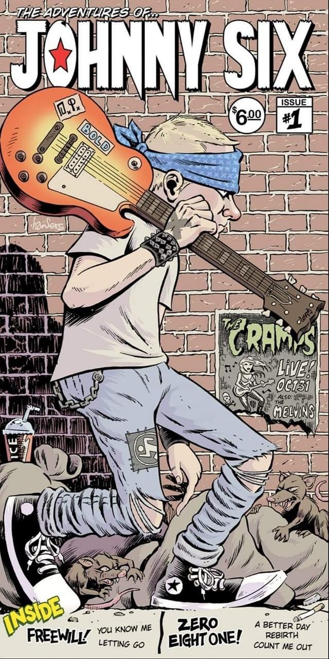 "V/A Freewill / Zero Eight One - The Adventures Of Johnny Six split 7""EP lim.252 black"