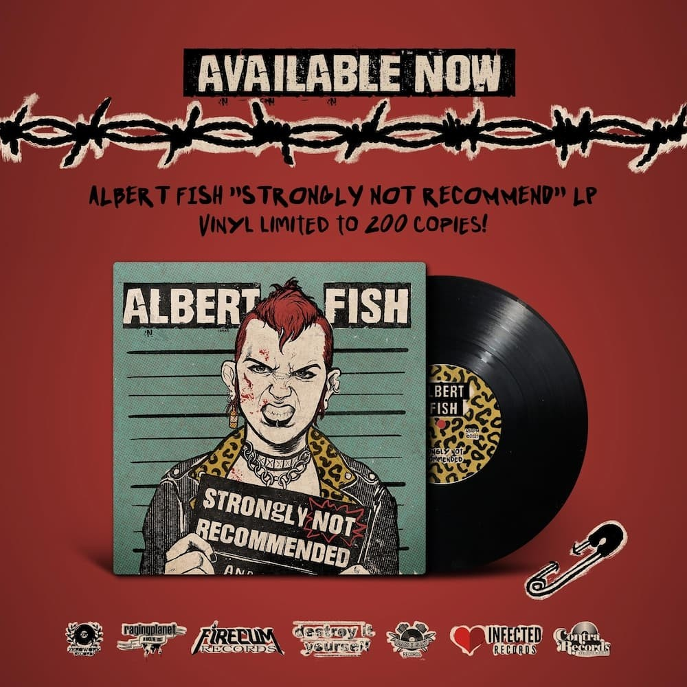 "Albert Fish ‎- ""Strongly Not Recommended"" - 12""LP lim.200"