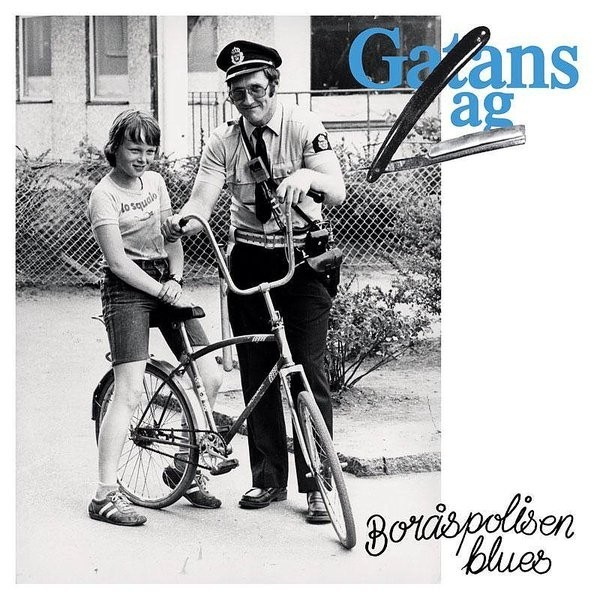 "Gatans Lag - Boråspolisen Blues 7""EP lim.clear with blue splatter"