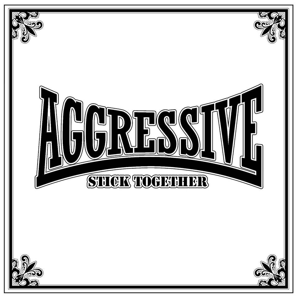 "AGGRESSIVE - Stick Together 12""LP lim.44 blk with extra screenprinted cover"