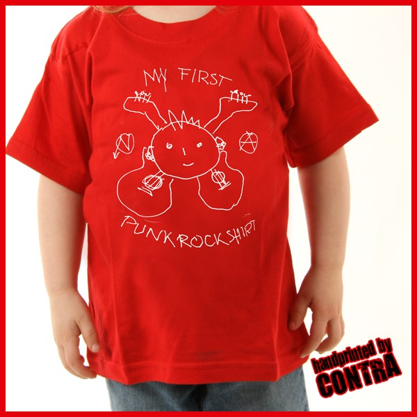 My first Punkrockshirt red - Kids Shirt