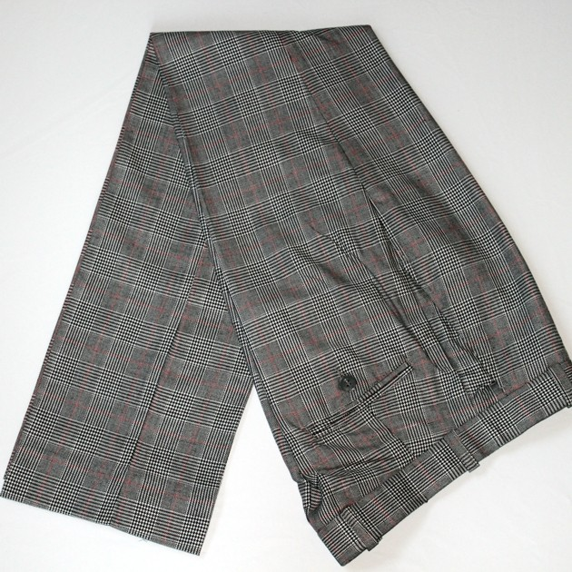 Warrior Clothing - Sta Prest Style Hose (Prince of Wales Check) size 32