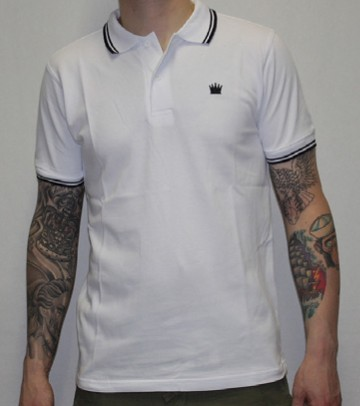 Kings League - White/Black - Polo Shirt-XS (last size!)
