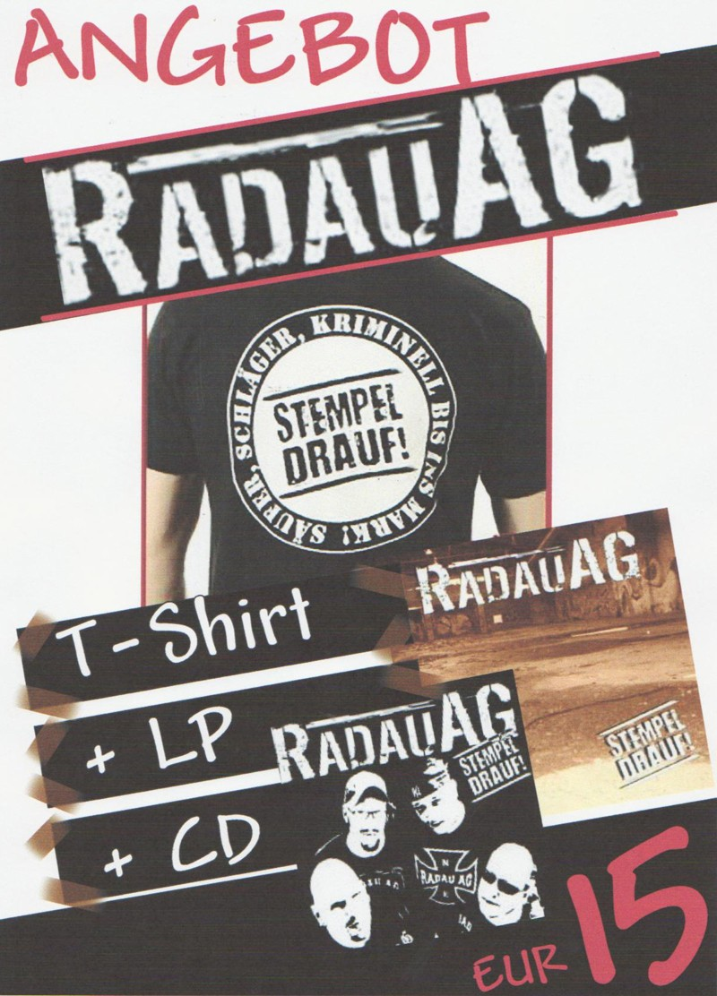 "Rabatt Paket - ""Radau AG"" CD + LP + T-shirt"