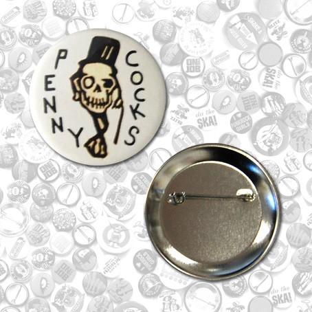 "Button - Pennycocks -  ""Skull"" (56mm)"