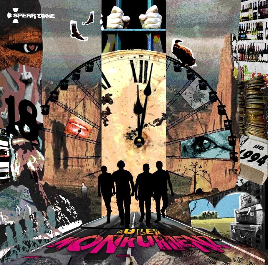 """Sperrzone-Ausser Konkurrenz 12""""Gatefold-LP +CD"""
