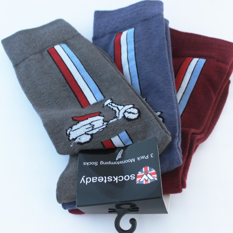 Socksteady Pack - 3 Pairs of Scooter Socks Lambretta