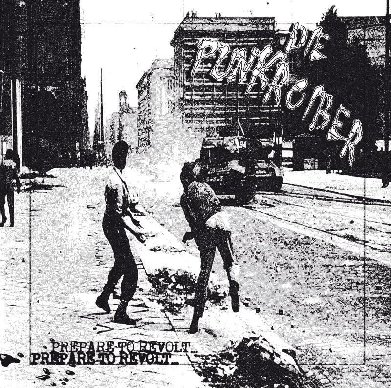 Punkroiber, Die - Prepare to Revolt LP (2nd Press, lim. 127) screenprinted Cover