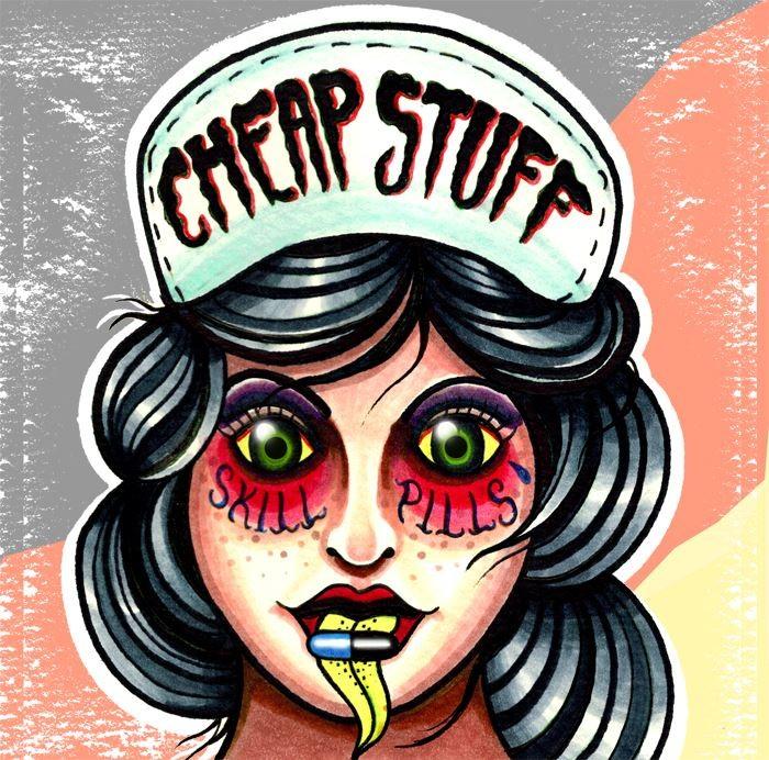 CHEAP STUFF - SKILL PILLS - splattered 7`EP lim.100