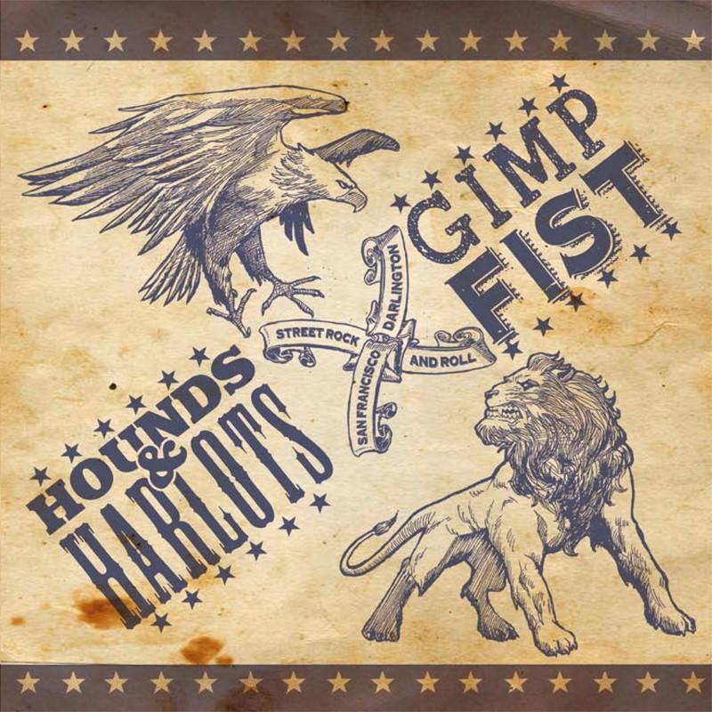 V/A Hounds & Harlots/ Gimp Fist - Split 7`EP - 100 blue sleeves