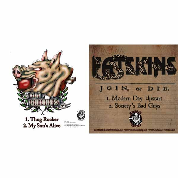 V/A Split- Fatskins/ The Butchers - 7`EP