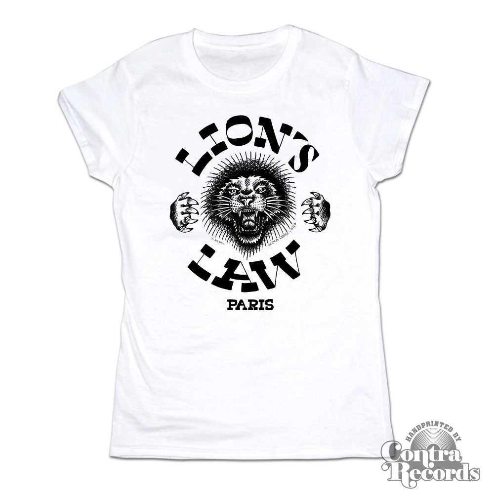Lion's Law - Girl Shirt - white Lion new design (last sizes!!)