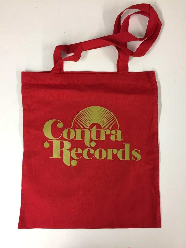"Cotton Bag ""vinyl"" red"