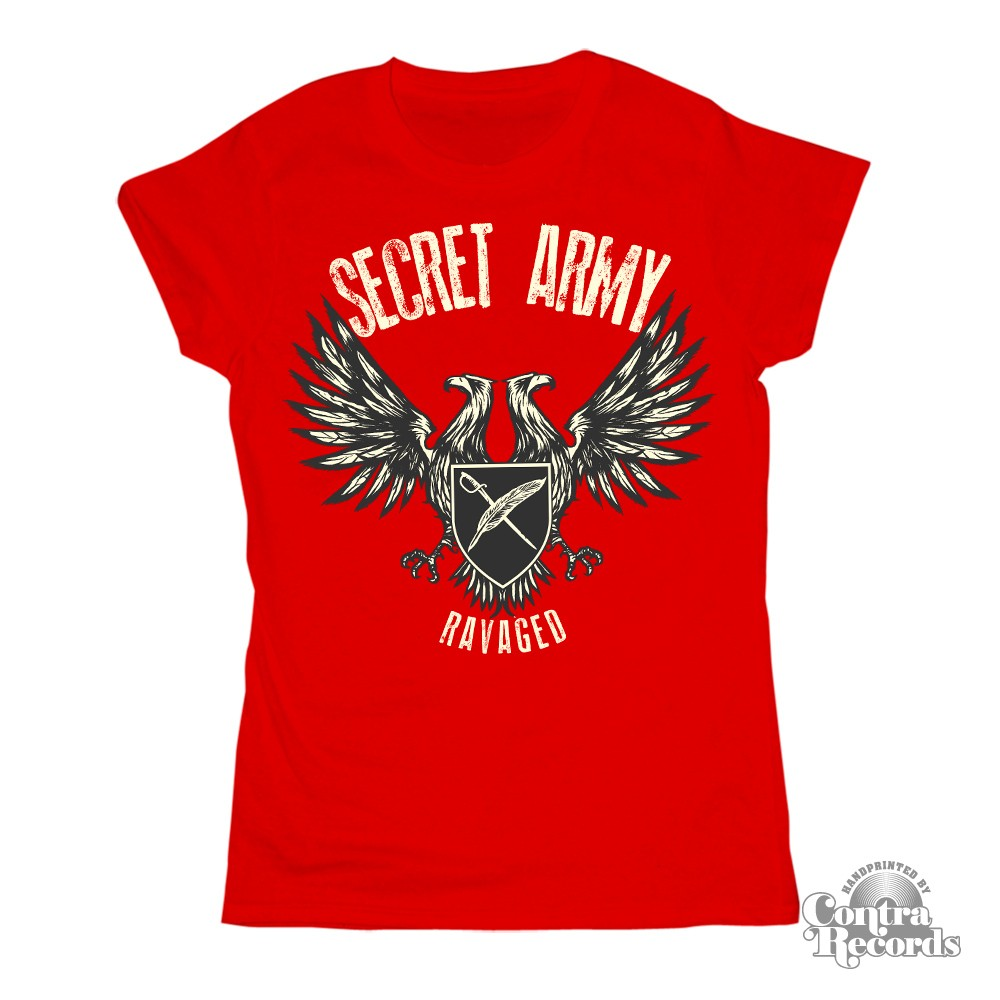 SECRET ARMY -  Ravaged - Girl Shirt red (last sizes)