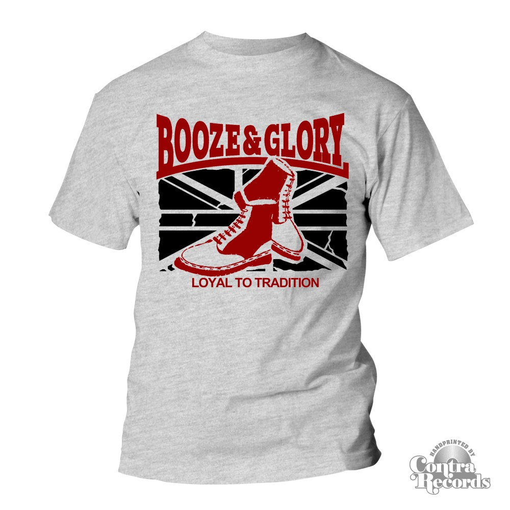 BOOZE & GLORY - Boots - T-Shirt - grey