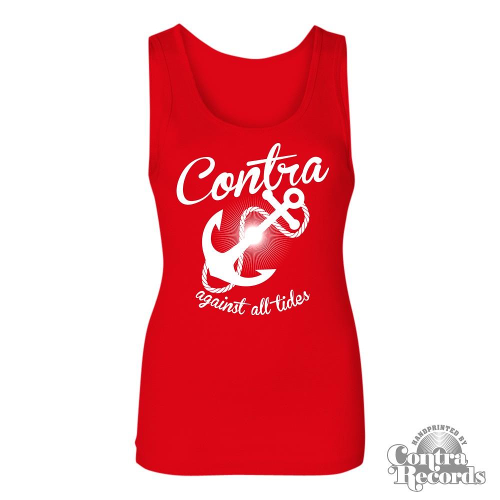 Contra Records - Anchor - Girl Tank Top - red