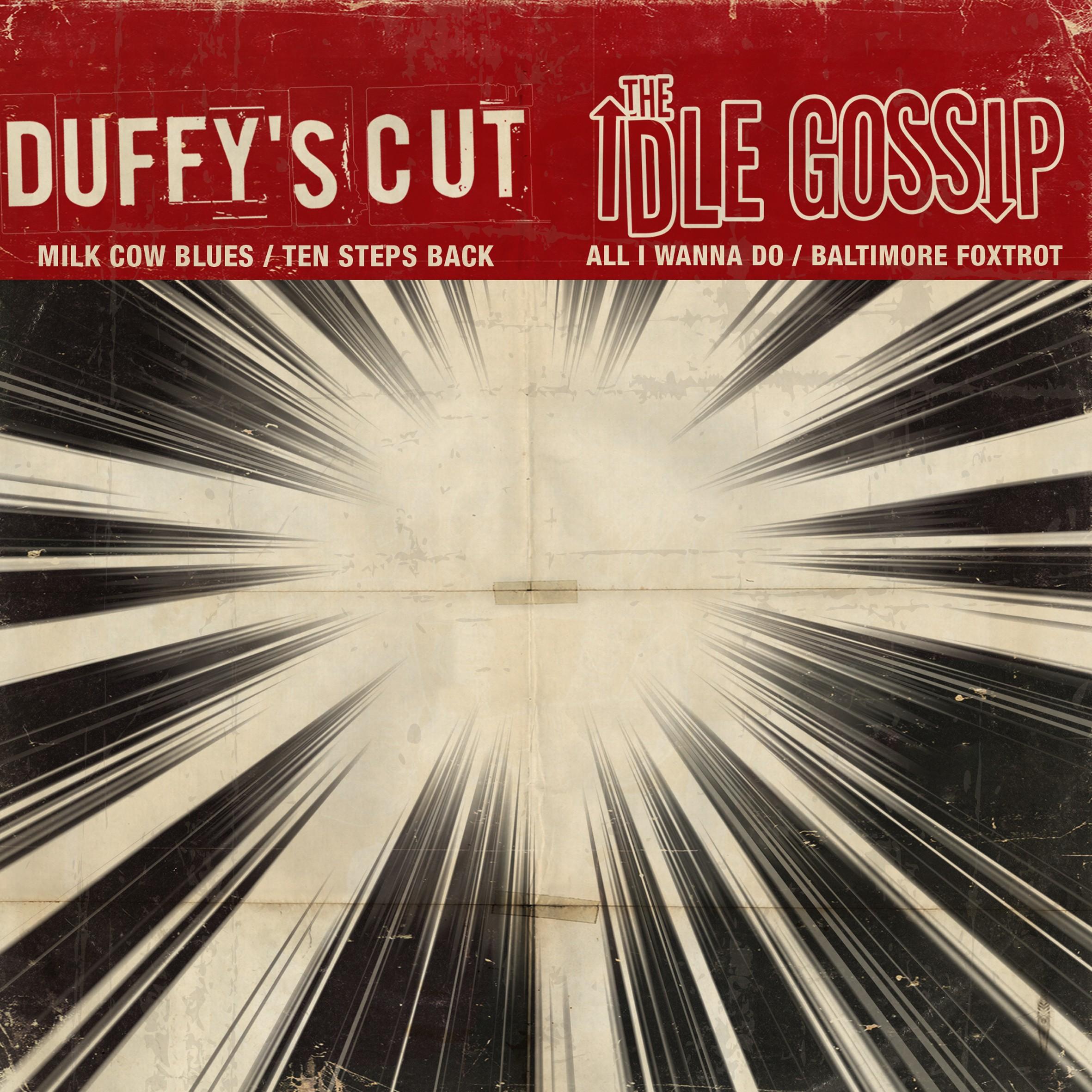 "V/A DUFFY'S CUT/IDLE GOSSIP - split 7""EP lim.100 black"