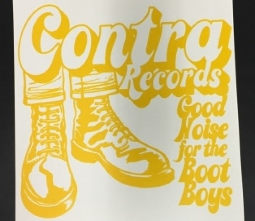 "Screenprinted  Poster - ""Contra Records"" - Gelb"