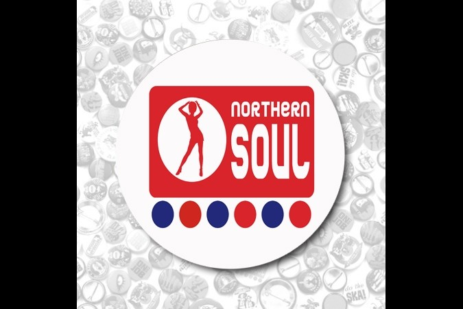 Northern Soul  Button red-37mm