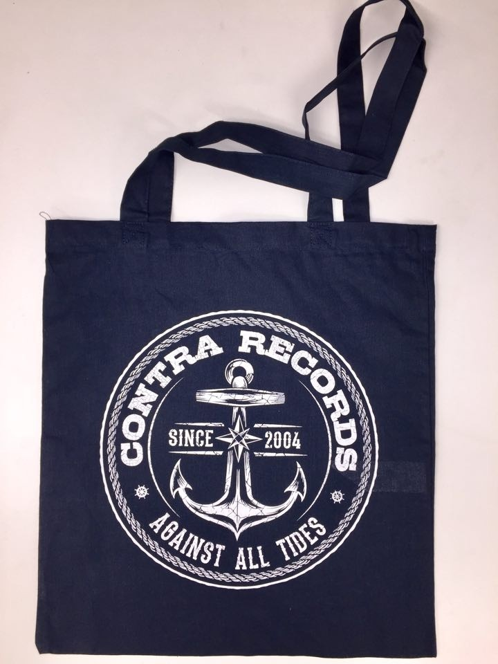 "Cotton Bag ""new anchor"" navy blue"