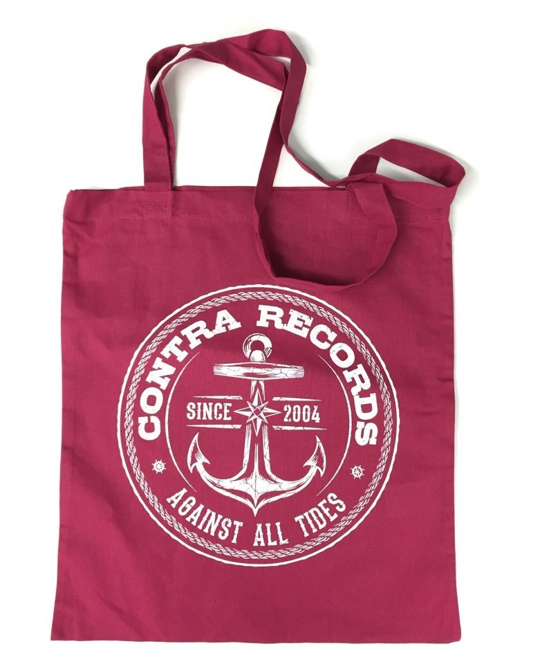 "Cotton Bag ""new anchor"" oxblood red"