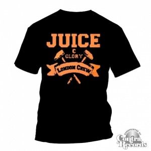 Juice&Glory London Crew-T-Shirt Black lim. Edt. (leftover)