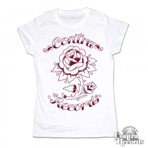 "Contra Records - ""Rose"" - Girl Shirt White"