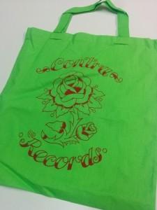 """Contra Records-""""Rose"""" Cotton Bag Green"""