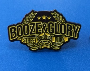 Metall-Pin - BOOZE & GLORY - Streetpunk