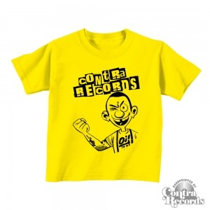 Contra Records Oi! - Kids Shirt Yellow
