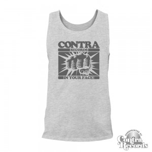 """Contra Records - """"In Your Face"""" -Men Tank Top Grey"""