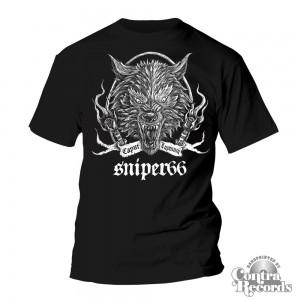 Sniper 66 - Caput Lupinum Wolf - T-Shirt Black-L