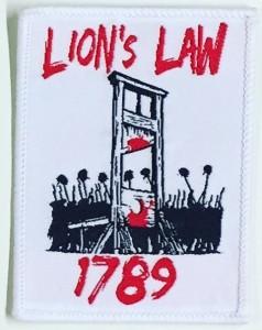 """Patch - Lions Law """"1789"""""""