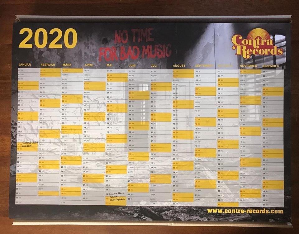 Contra Records - A2 Calendar 2020