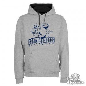 Contra Records -Bull since2004- College style Premium Hoody Grey