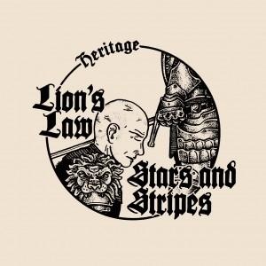 "V/A LION'S LAW/STARS & STRIPES- SPLIT 7""EP lim.500 half"
