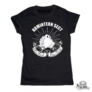 "Komintern Sect - ""Plus fort que tout "" -Girl Shirt Black"