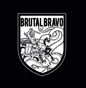 """Brutal Bravo - s/t 7""""EP with lim.300 Black incl. Download"""