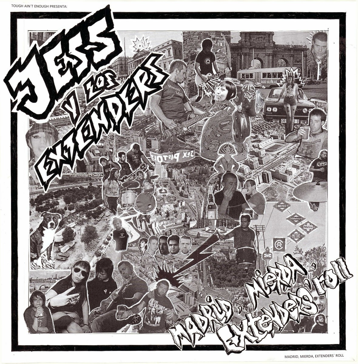 "Jess Y Los Extenders - Madrid, Mierda, Extender's Roll 12""LP Single Sided lim.300 black"
