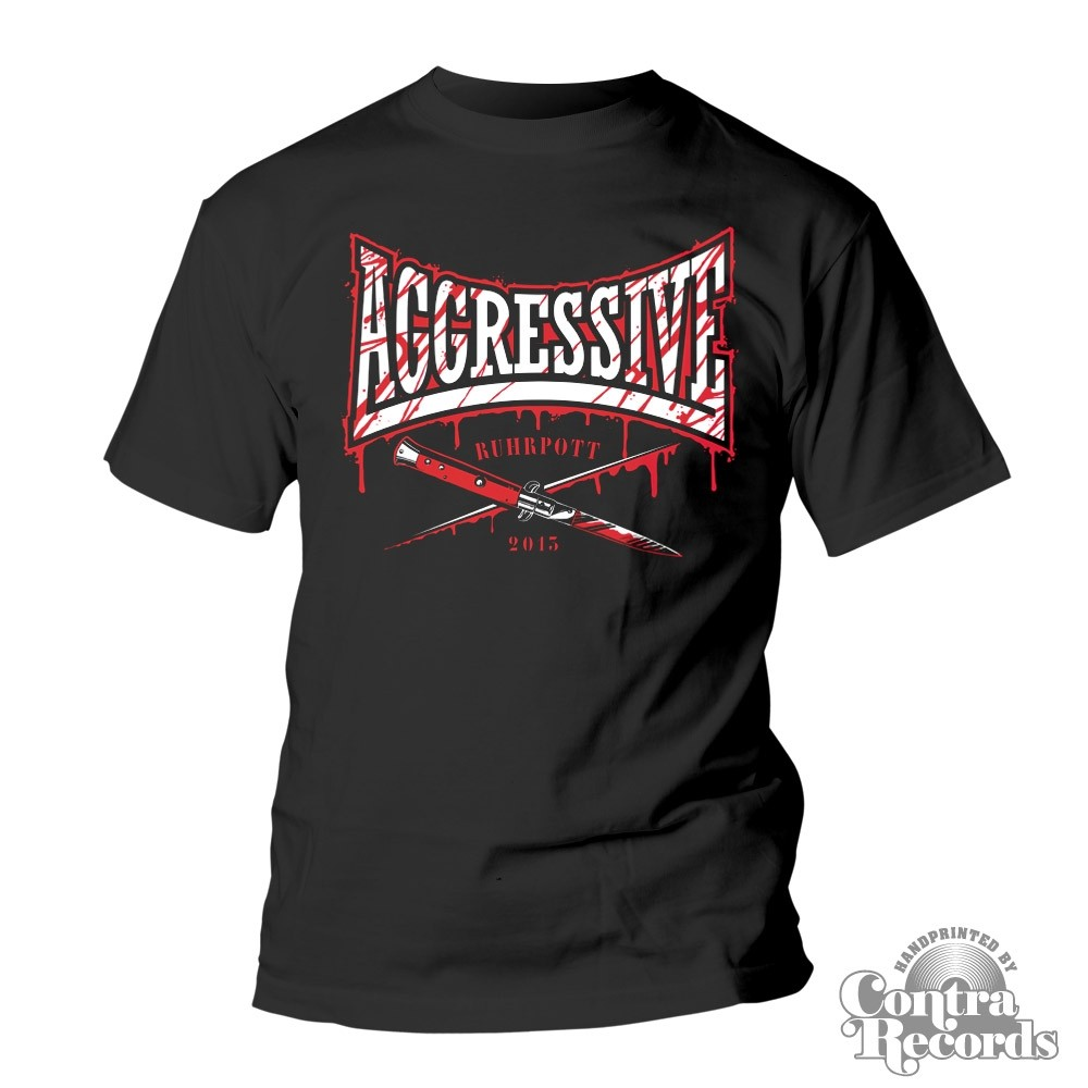 AGGRESSIVE - knife T-Shirt black
