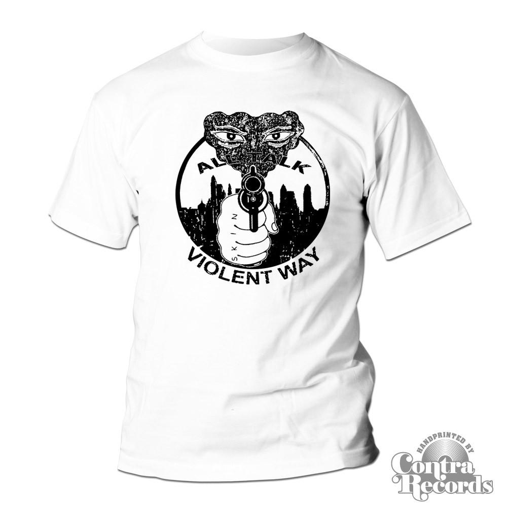 "Violent Way - ""All Talk"" T-Shirt white"