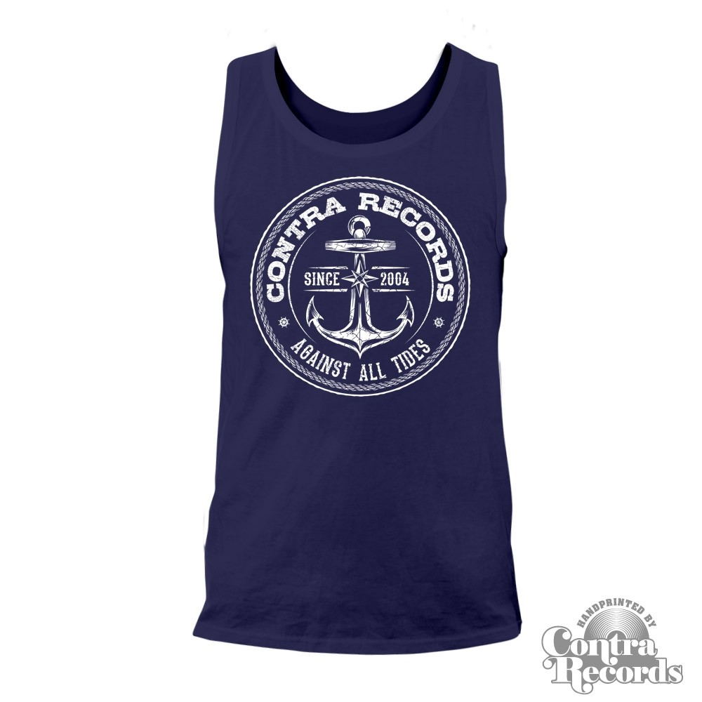 "Contra Records ""Anchor new"" Men Tanktop navy blue"
