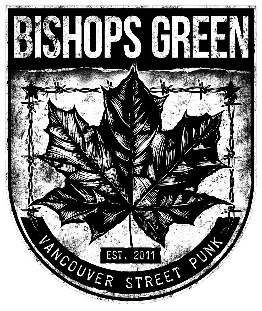 """Bishops Green - """"Leaf"""" - Sticker white"""