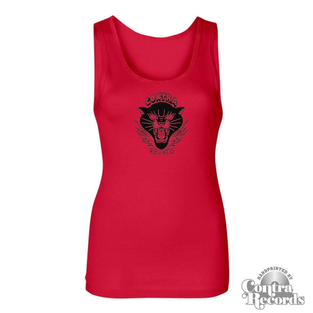 "Contra Records ""Black Panther"" Girl Tanktop red"