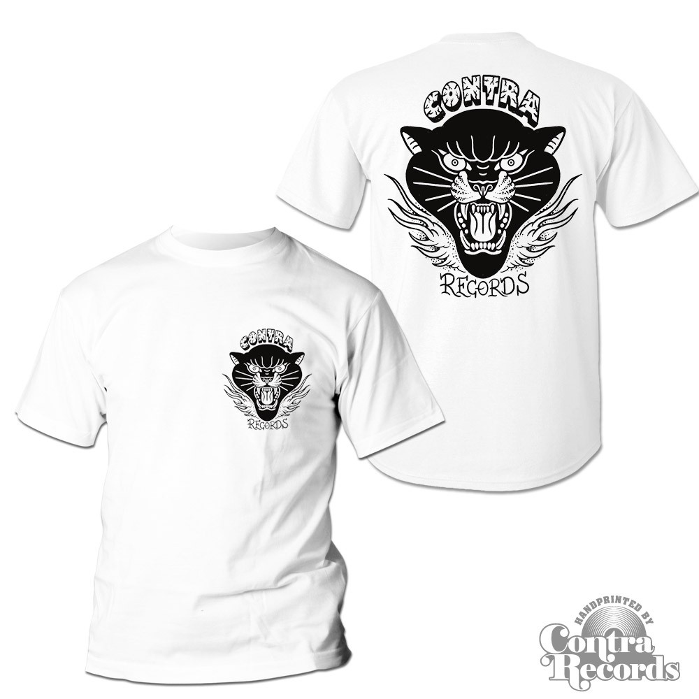 """Contra Records """"Black Panther"""" T-Shirt white front/backprint"""
