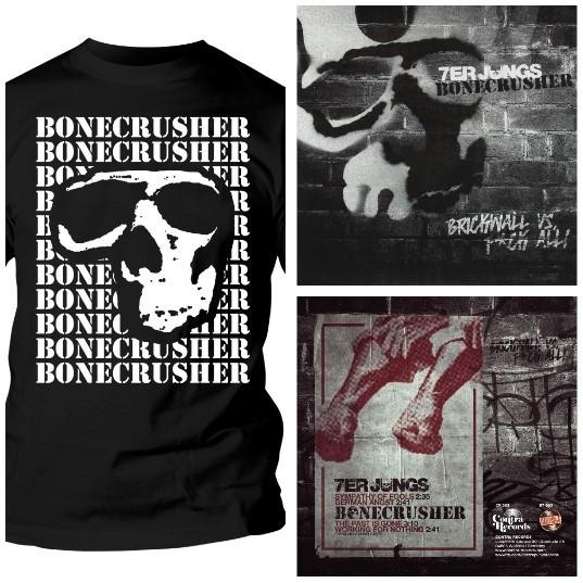 "Bonecrusher - package deal # T-Shirt + 7er Jungs- Split 7""EP"