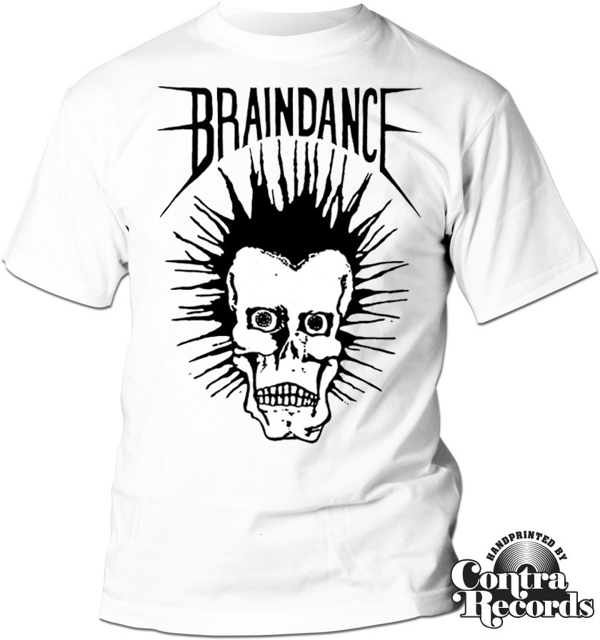"Braindance - ""Skull"" T-Shirt white"