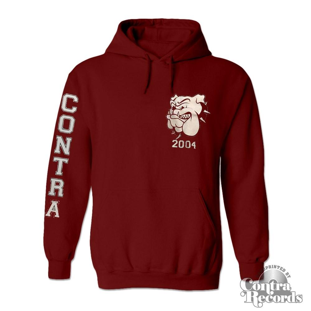 Contra - Streetwear Bulldog - Hoody oxblod