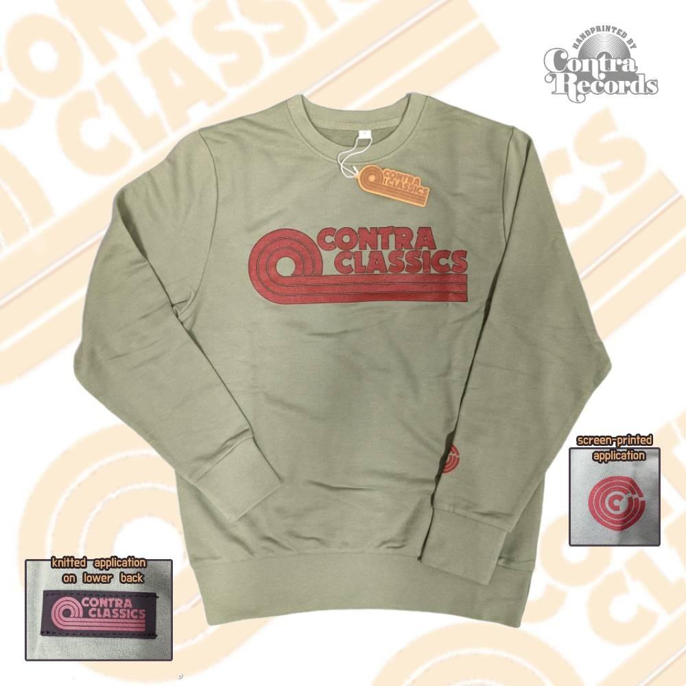CONTRA CLASSICS - Crewneck Sweatshirt limited olive green