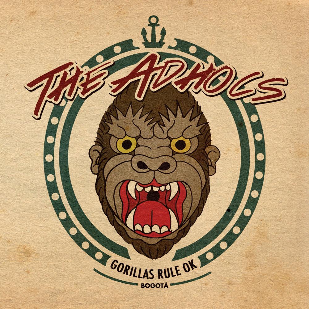 """Adhocs - """"Gorillas Rule OK"""" 7""""EP lim.300"""